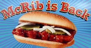 Omg the mcrib is back why was it ever gone